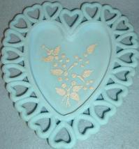 Westmoreland Blue Satin Heart Dish - $5.99