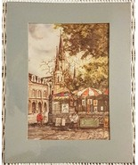 """KNUT KEN ENGELHARDT New Orleans St Louis Cathedral 8.5x11"""" Matted Print ... - $19.71"""