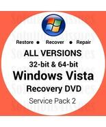 Windows Vista Home Premium 64 Bit Recovery Reinstall Boot Restore DVD Di... - $14.99
