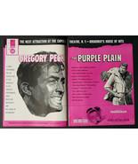 SUPER RARE 1955 THE PURPLE PLAIN PROMO MOVIE AD GREGORY PECK CAPITOL THE... - $28.93