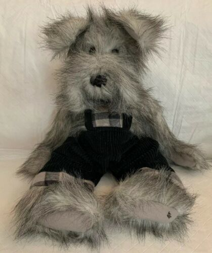 "Primary image for Ganz Cottage Collectibles Connor Dog Plush Artist Designed 18"" Corduroy Overalls"