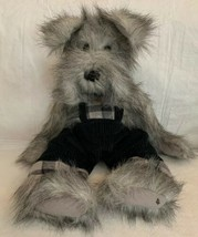 "Ganz Cottage Collectibles Connor Dog Plush Artist Designed 18"" Corduroy Overalls - $22.76"