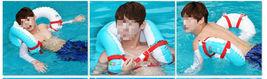 Herc Adult Shoulder Swim Ring Tube for Men Women (Blue) image 3
