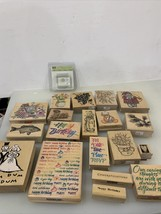 Lot of 20 , Hero Arts & Misc Holiday Rubber Mounted Scrapbooking Stamps Crafting - $74.04