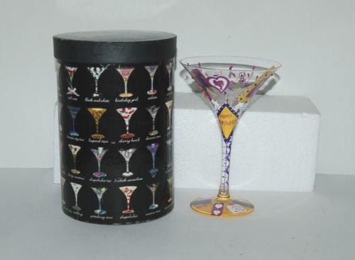 Santa Barbara Design Lolita Birthday Girl Martini Glass Hand Painted