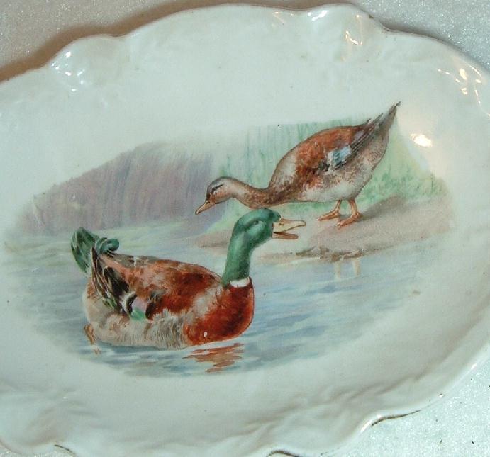 Vintage Bavaria Duck & Goose Mint or Soap Dish Bavaria