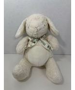 Toys R Us Natural white cream tan plush bunny rabbit Geoffrey 2008 baby toy - $12.86