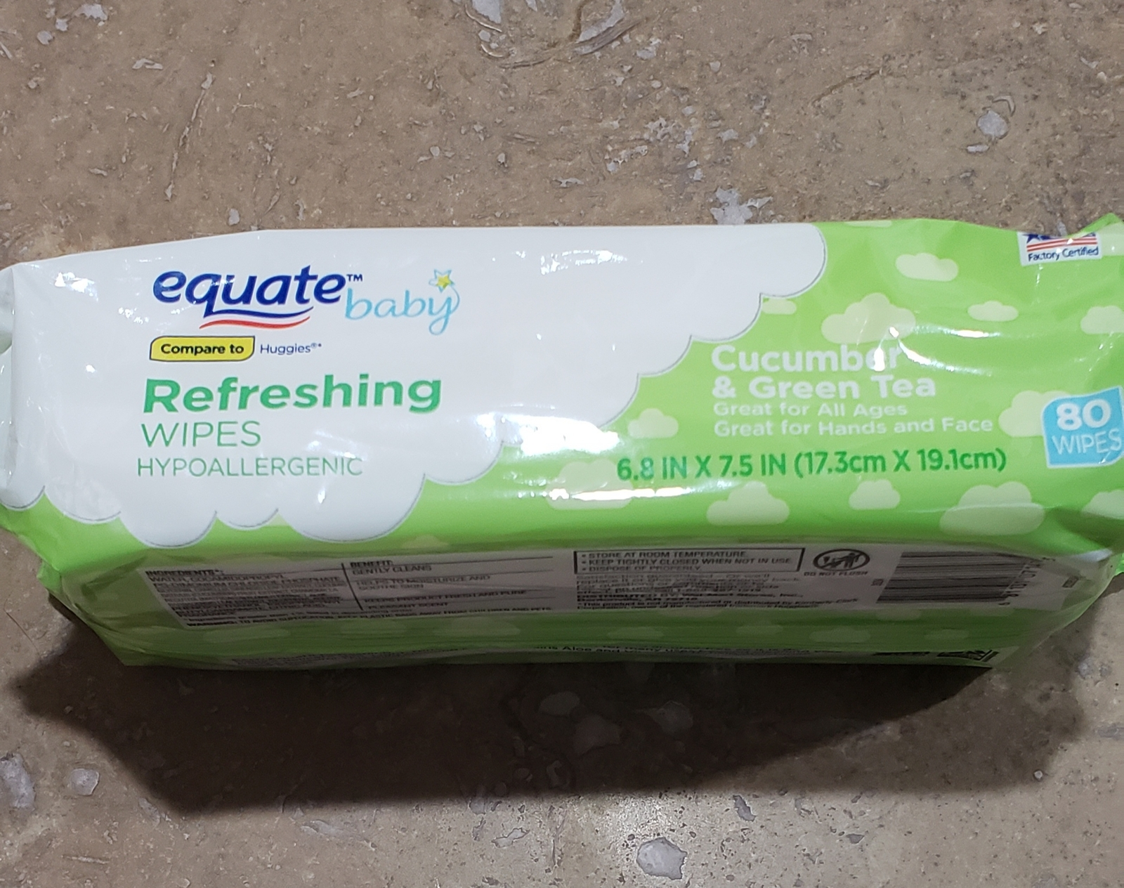 Equate Baby Everyday Clean Wipes Hypoallegenic 80 Wipes Vitamin E Fragrance Free