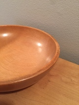 50s Japanese wooden bowl- salad size image 3