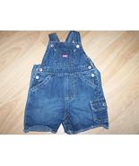 Infant Size 3-6 Months Old Navy Denim Blue Jean Shortalls Overalls EUC - $14.00