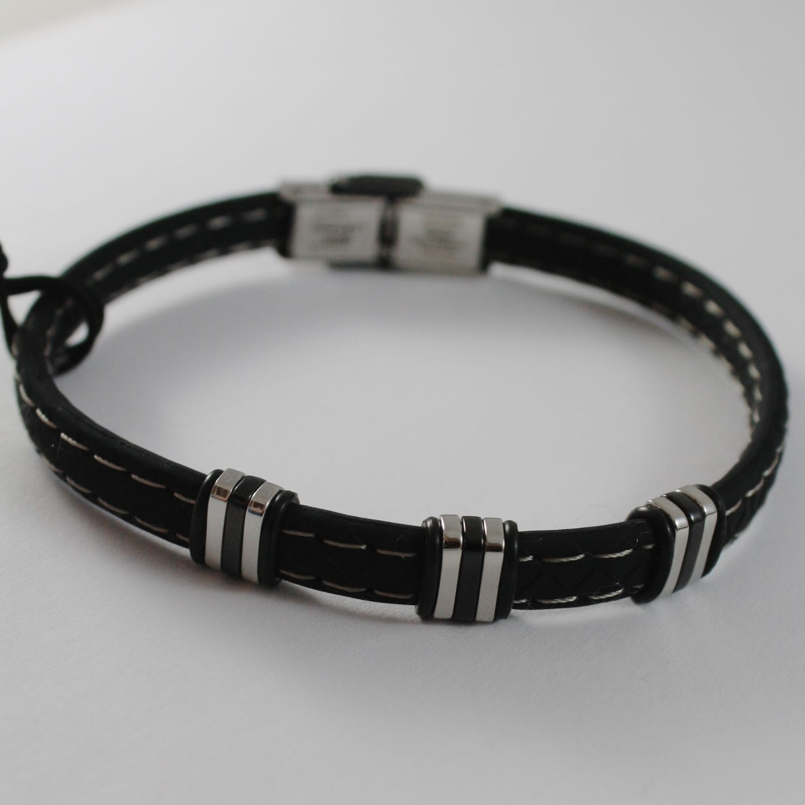 MEN'S BRACELET STEEL AND SILICONE BLACK CESARE PACIOTTI 4US 4UBR1398