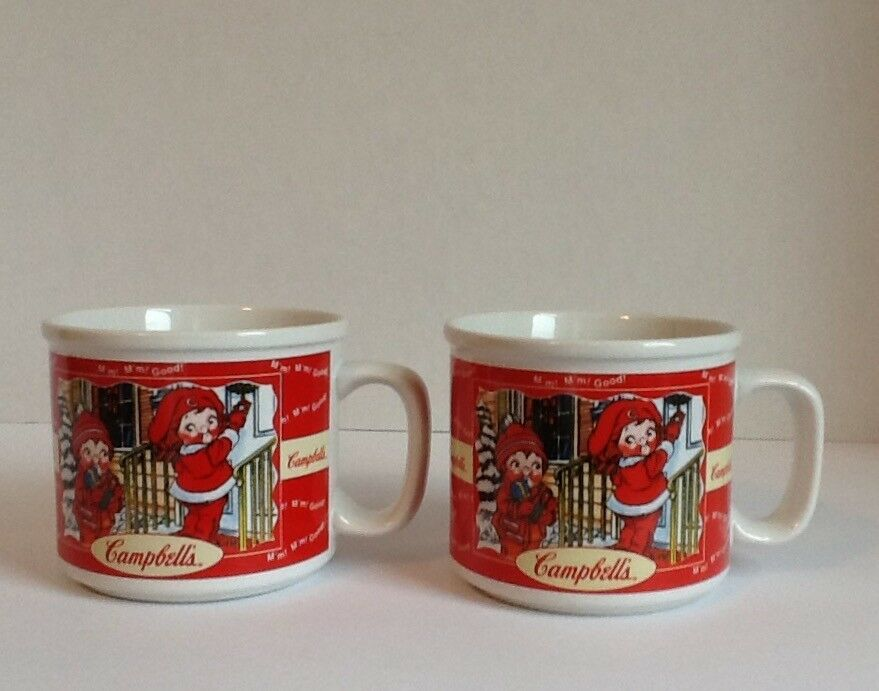 Campbell's Kids Soup Mugs (2) Houston Harvest Gift Fall/Winter 1998