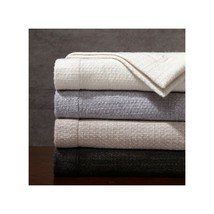 HOLIDAY GIFT MADISON PARK SIGNATURE Luxury 100% Wool Bed Throw 80 by 96in - $79.00