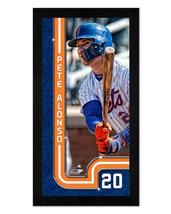 "Pete Alonso New York Mets - 6.75"" x 13"" Miniframed Photo Montage - $38.95"