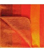 SOFT & WARM ALPACA WOOL BLANKET QUEEN BED SOFA COVER ORANGE YELLOW STRIPED - £45.77 GBP