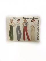 Vogue 1798 Misses Measurse Free Straight Leg Pants Sewing Pattern Size 2... - $17.81