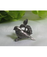 Pewter BIRDS & BLOOMS 2002 Pin/Brooch - $5.00