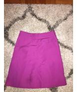 H&M Fuschia Magenta A-Line Cotton Spring Knee Length Skirt with Pockets 8 - $12.99