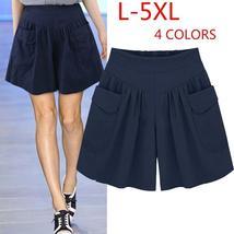 Fashion Casual Loose Wide Leg Pants Women Culottes L-5XL