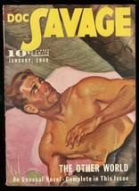 Doc Savage Jan 1940-OTHER WORLD-PULP-STREET & Smith FN/VF - $212.19