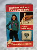 Vintage 1989 Purr-fect Punch Beginner's Guide to Punch Embroidery Needle... - $26.17