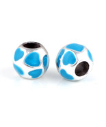 Charms 10 Pcs a Lot Blue Enamel Sliver Plated European Fits Pandora Brac... - $23.99