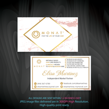 Monat Business Card, Custom Monat Business Card, Colorful Monat Card, MN44 - $9.99