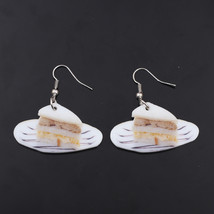 1 pair sandwich food drop earrings colorful new 2014 cute lovely printing acryli - $9.18