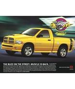 2004 Dodge RAM 1500 RUMBLE BEE/HEMI SPORT brochure sheet 04 - $8.00