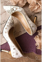sparkle ballet pump for bride,ivory swarovski shoes,ivory crystal bridal shoes - $88.00