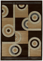 United Weavers Contours Spiral Canvas Chocolate Accent Rug 1'10'' x 2'8'' - $24.00