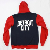 New Detroit City Spell Out Full Zip Hoodie Mens Large Hooded Sweatshirt Usa Made - $18.07