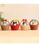 Cheese cat miniature figurines toys cute lovely Model Kids Toys 4pcs jap... - $11.54