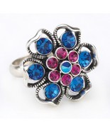 Fashion Rings  Floral Fantasy Metal and rhinestones 24 pack wholesale 3... - $49.00
