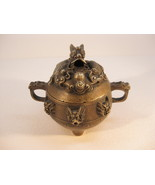 Beautiful Old Solid Brass Detailed Dragon Incense Burner with Hallmark - $149.00