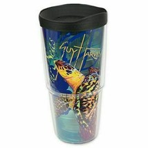 Tervis Tumbler 24oz Guy Harvey Save Our Seas Turtle Blue w Travel Cup Li... - $25.99