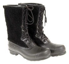Hunter Women'S Original Shearling Boots In Black 9 - $1.759,13 MXN