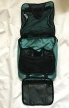 LL Bean Hanging Toiletries Travel Bag Shower Caddy Green Cosmetic Bag - $23.36