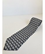 Men's Ties Kai Long Hand Made 100% silk in black with Indian elephants n... - $7.69