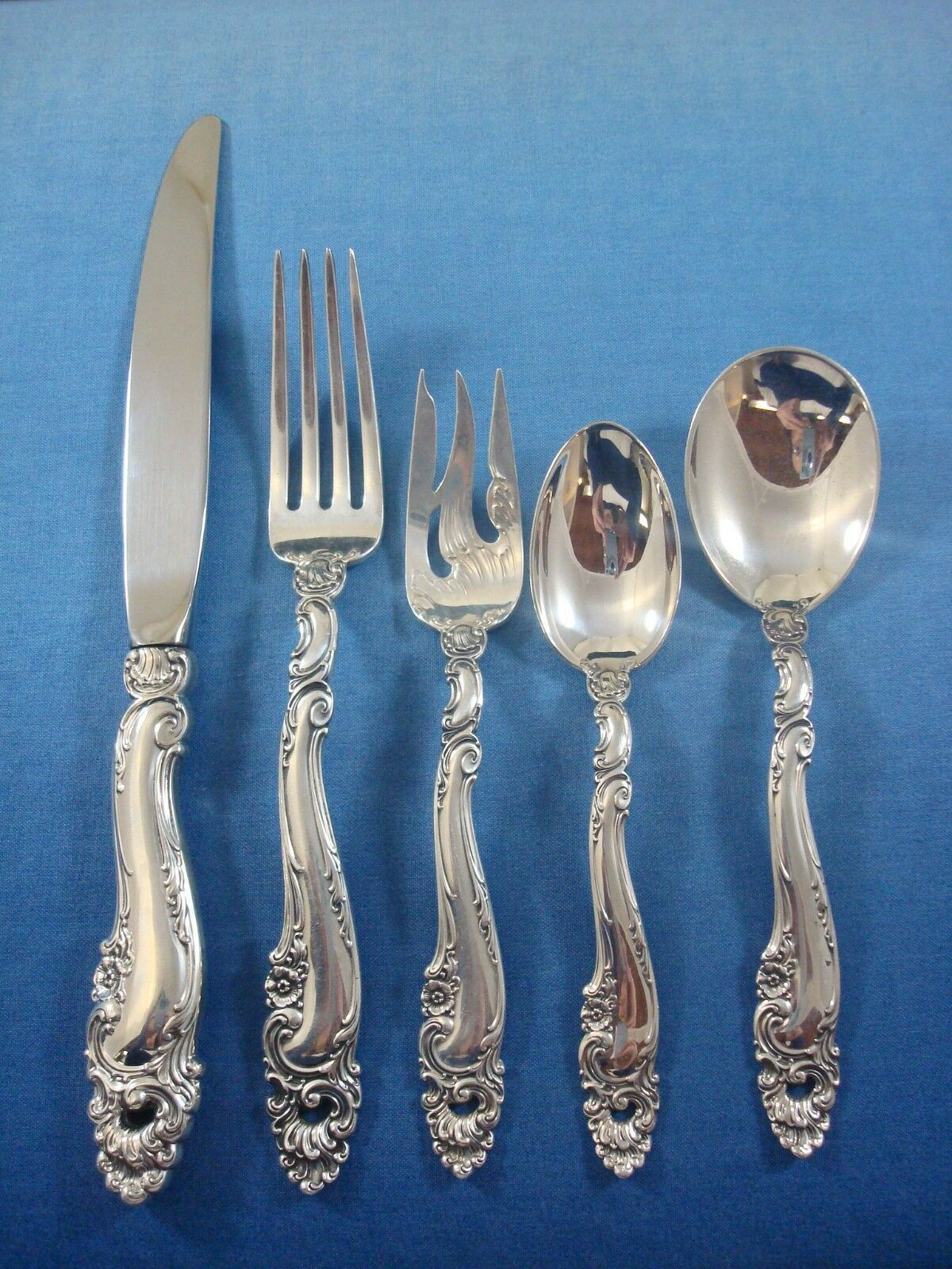 Primary image for Decor by Gorham Sterling Silver Flatware Set for 12 Service 63 Pieces Dinner