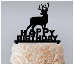 Decorations Birthday Cake topper,Cupcake topper,silhouette deer Package ... - $20.00