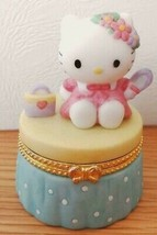 Sanrio Kitty antique pottery accessory case porcelain perfume inside! Cute Awww! - $83.13