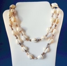Vintage Shell Strand Necklace 34 Inches Costume Beach Ocean Theme - $12.99