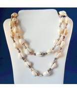Vintage Shell Strand Necklace 34 Inches Costume Beach Ocean Theme - €11,91 EUR