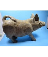 Antique Primitive Folk Art Hand Carved Wooden Pig Country Farmhouse - $192.60