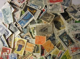 Super group US postage stamp lot ALL DIFFERENT USED 5 AND 6 CENT FREE SH... - $5.93