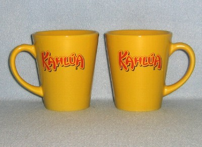 Primary image for Shonfeld's Kahlua 2 Mugs Cups 7oz Gold Colored