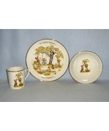 Holly Hobbie Table Talk 3 Piece Place Setting 1973 WWA Child's Plate Bow... - $14.99