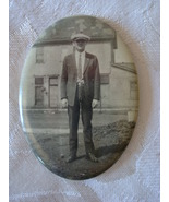 Vintage Photo Pocket Mirror  ~ Guy in Suit - $18.00
