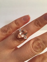 Natural  Morganite Engagement Ring, 2.71ct  Center Stone Set in 14KT  Ro... - $474.00+